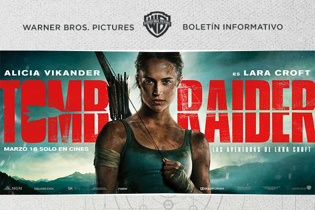 Alicia Vikander visita México con Tomb Raider: Las aventuras de Lara Croft