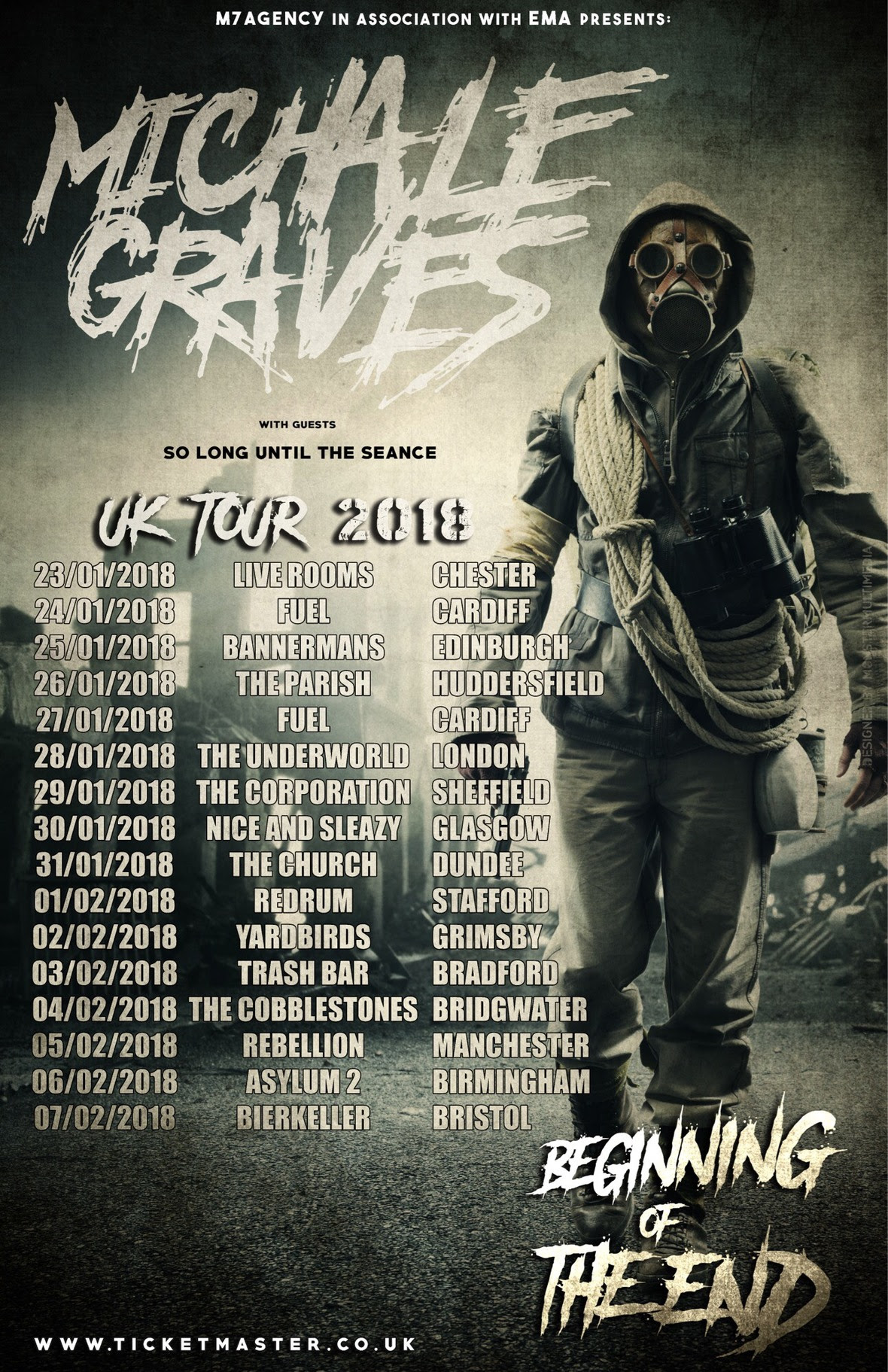michale graves updated tour poster
