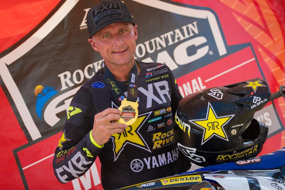 Michael Brown earned two moto wins on day one at The Ranch in the Senior 40+ and Junior 25+ classes.