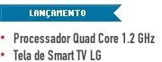 Processador Quad Core 1.2 GHz Tela de Smart TV LG