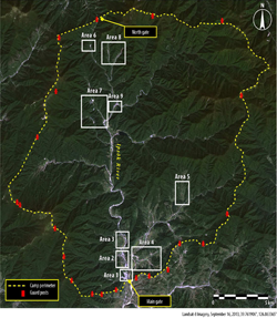Political Prison Camp No. 15, Yodok, South Pyongan –Overview Analysis courtesy of Amnesty International / © Digital Globe