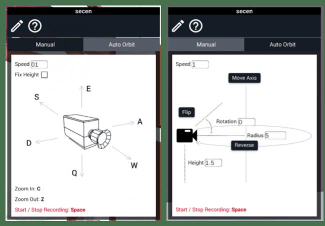 左:マニュアルモード 右:自動モードの説明
