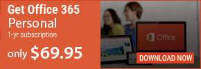 Office 365 Personal 1 year subscription for only $69.95