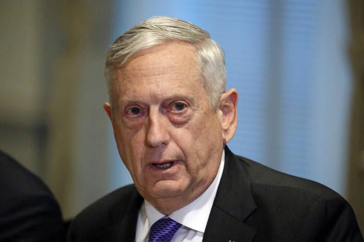 Defense Secretary Jim Mattis answers a question about the ambush of U.S. troops in Niger. (Alex Brandon/AP)