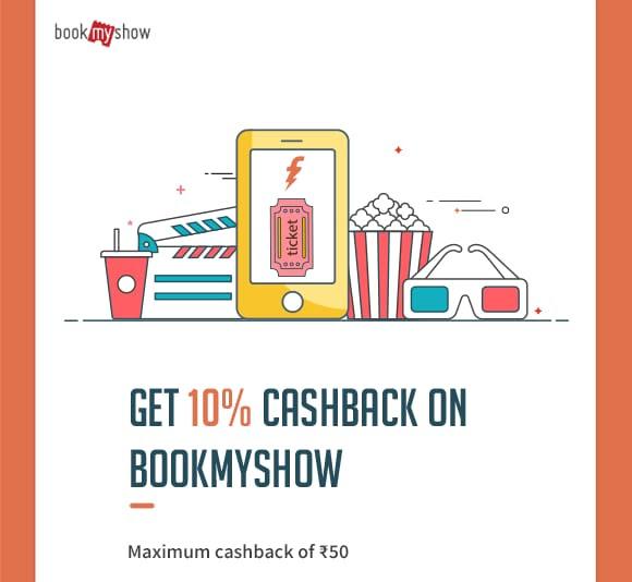 GET 10% CASHBACK ON BOOKMYSHOW