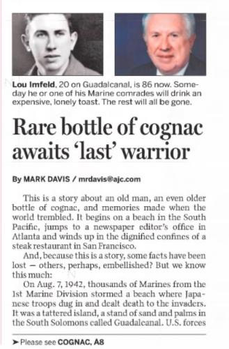 Last Man Bottle article