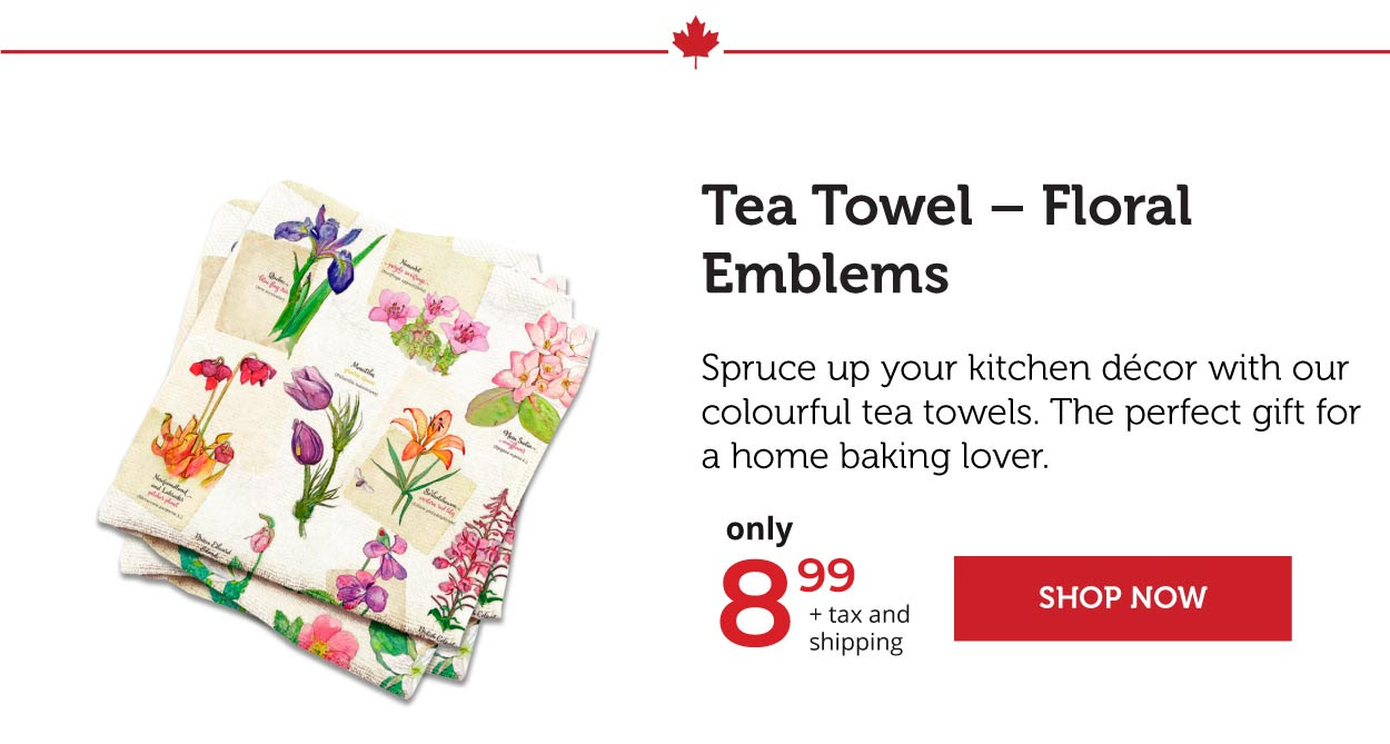 Tea Towel - Floral Emblems
