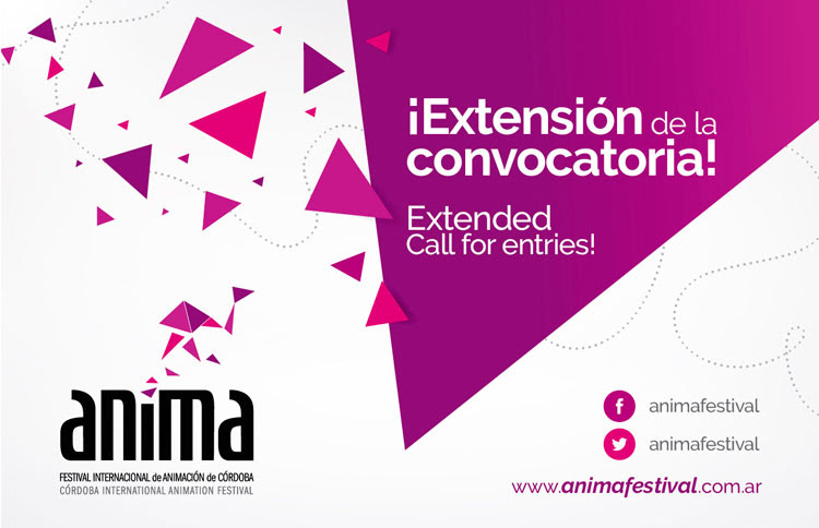 ¡Extensión de la Convocatoria! Extended Call for Entries! ANIMA2015, VIII Córdoba International Animation Festival