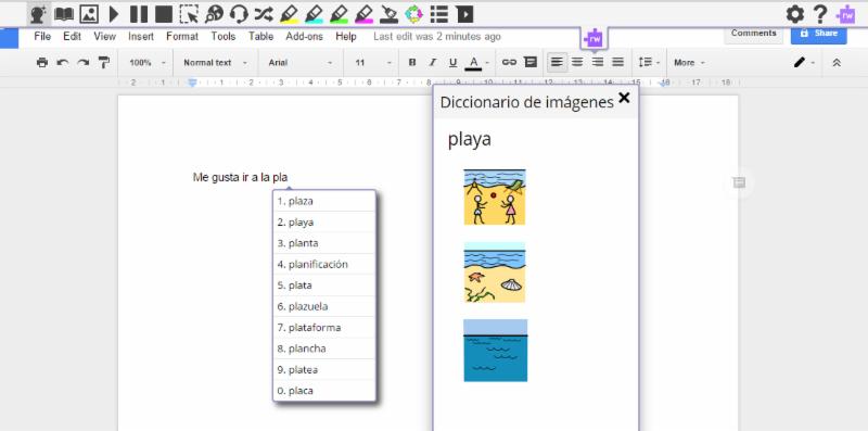 Read_Write for Google Chrome in Spanish