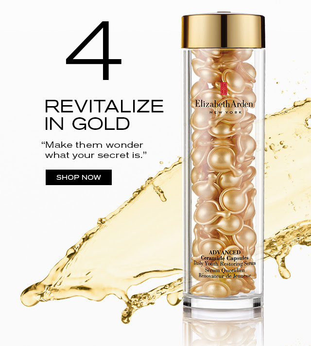 """REVITALIZE IN GOLD """"Make them wonder what your secret is."""" SHOP NOW"""