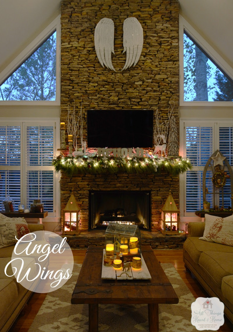 Decoart blog trends top 3 holiday trends for 2015 for Fireplace with windows on each side