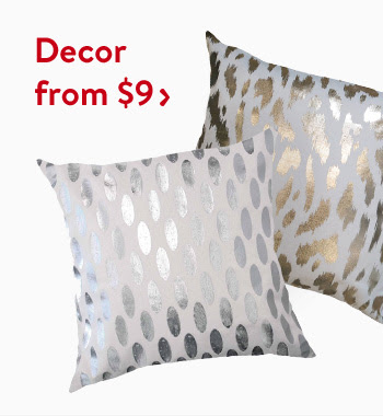 Find beautiful decor items from $9