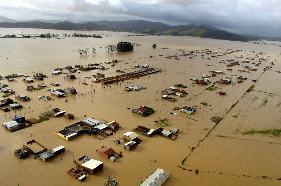 Inundaciones en Florianopolis, Brasil