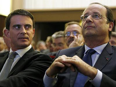 Manuel Valls y François Hollanden en una foto de archivo.