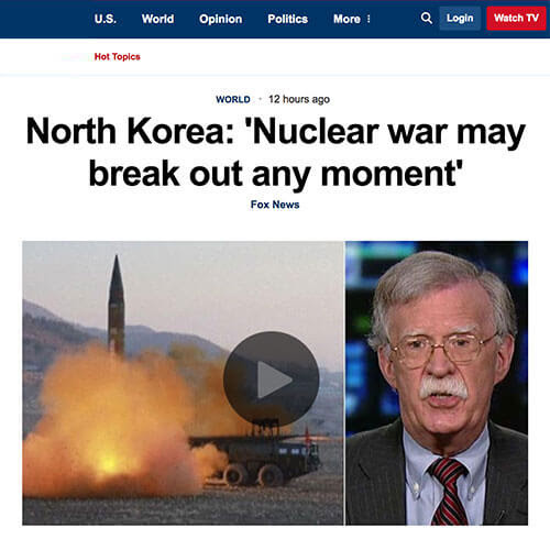North Korea: Nuclear Attack Imminent
