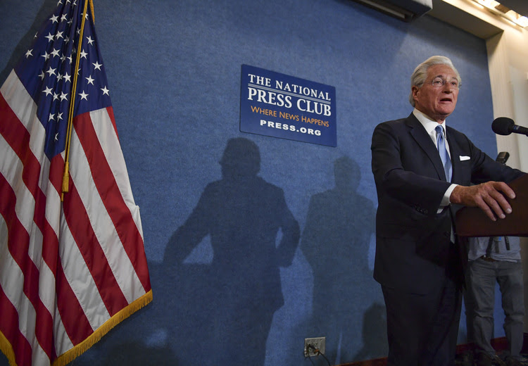 Marc Kasowitz, Trump's personal attorney, responds to Comey's testimony last week at the National Press Club. (Ricky Carioti/The Washington Post)</p>