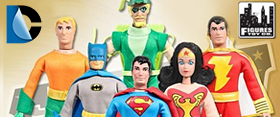 "DC RETRO 8"" AND 18"" FIGURES"