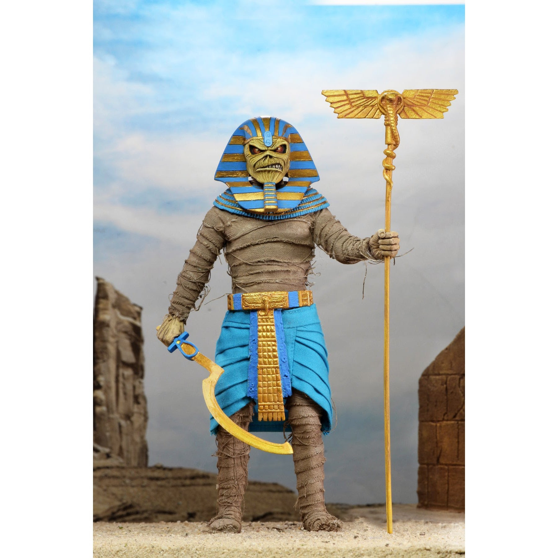 """Image of Iron Maiden Pharaoh Eddie 8"""" Scale Clothed Figure"""
