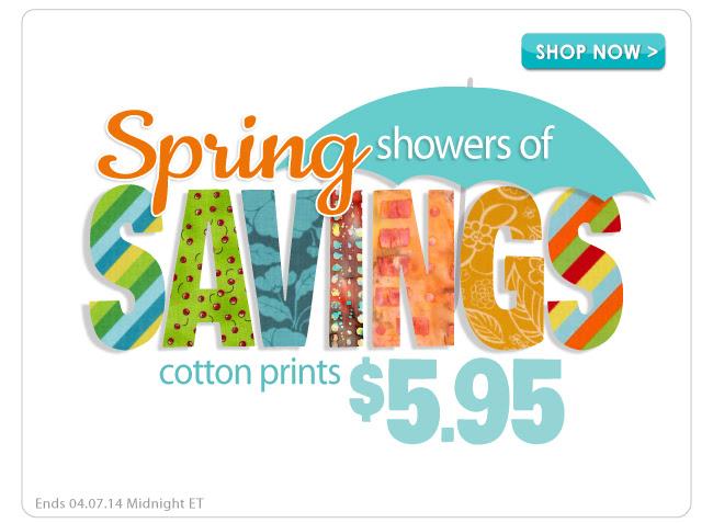 Spring Showers of Savings Sale