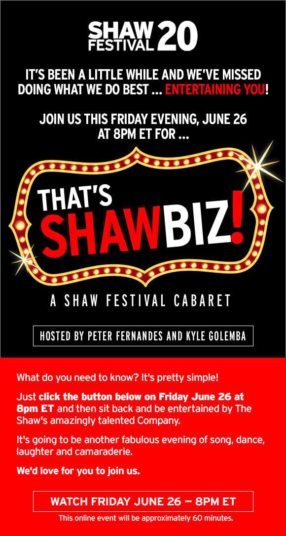 That's Shawbiz! A Shaw Festival Cabaret