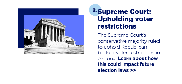 2. Supreme Court: Upholding voter restrictions
