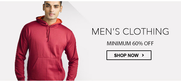 Men's Clothing - Minimum 60% OFF