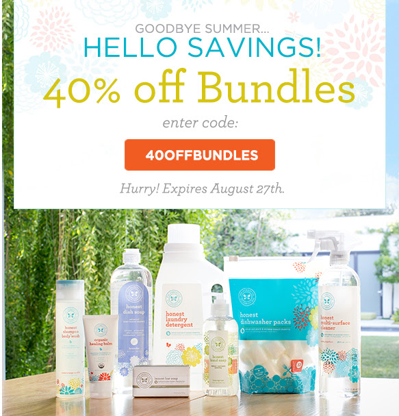 The Honest Co 40% OFF Bundles.