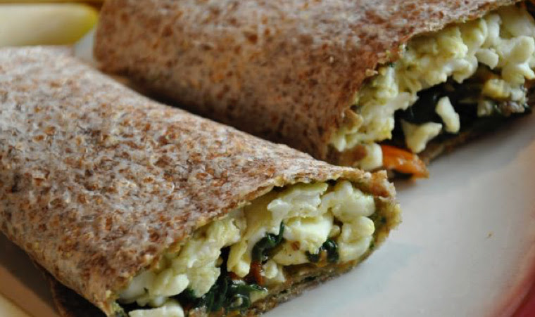 Spinach & Egg White Wraps