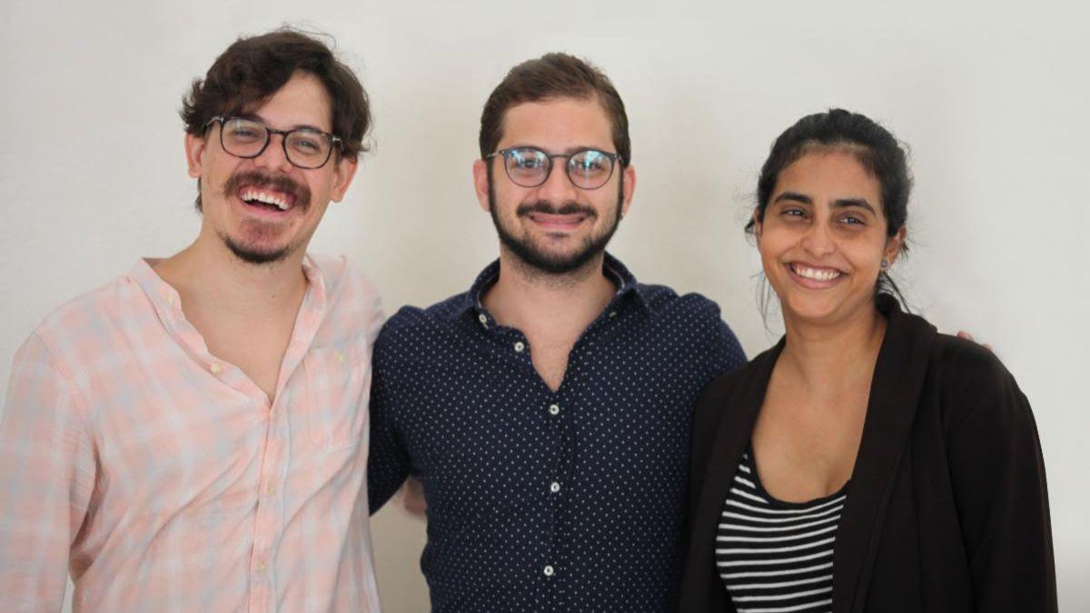 Oriol Estrada, José María Cabral y Natalia Cabral