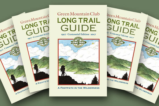 copies of the Long Trail Guide cover splayed