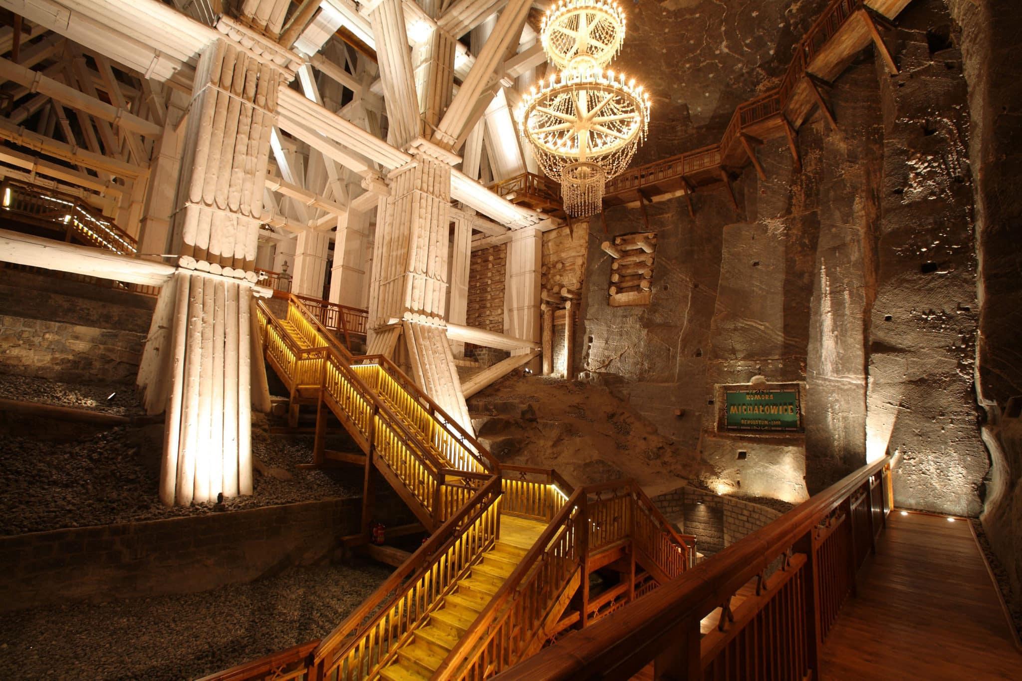 Wieliczka Salt Mine - underground staircases