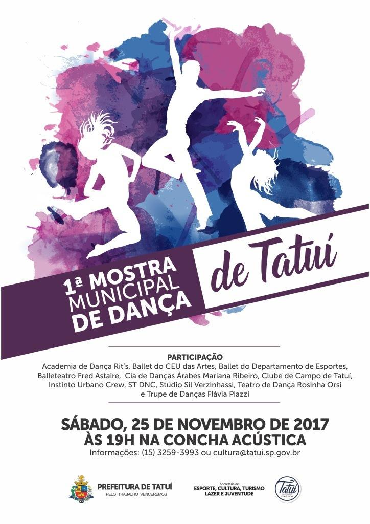 Mostra de Dança em Tatui dia 25