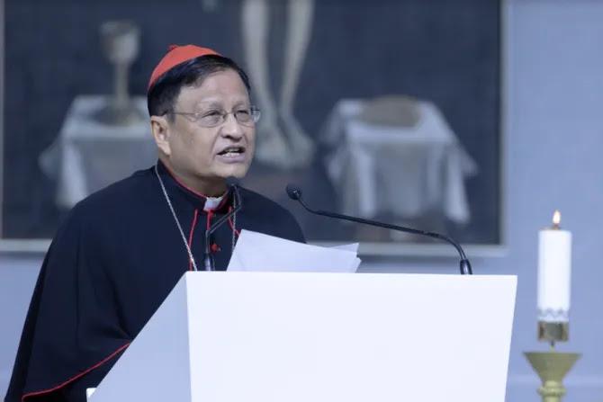 Burmese Cardinal Charles Maung Bo speaks at the International Eucharistic Congress in Budapest, Hungary, Sept. 8, 2021