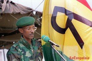 Paul Kagame in Kigali in 1994