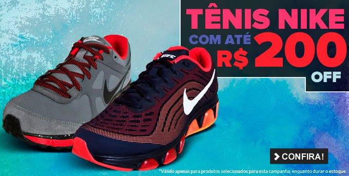 Tênis Nike com até R$200 OFF
