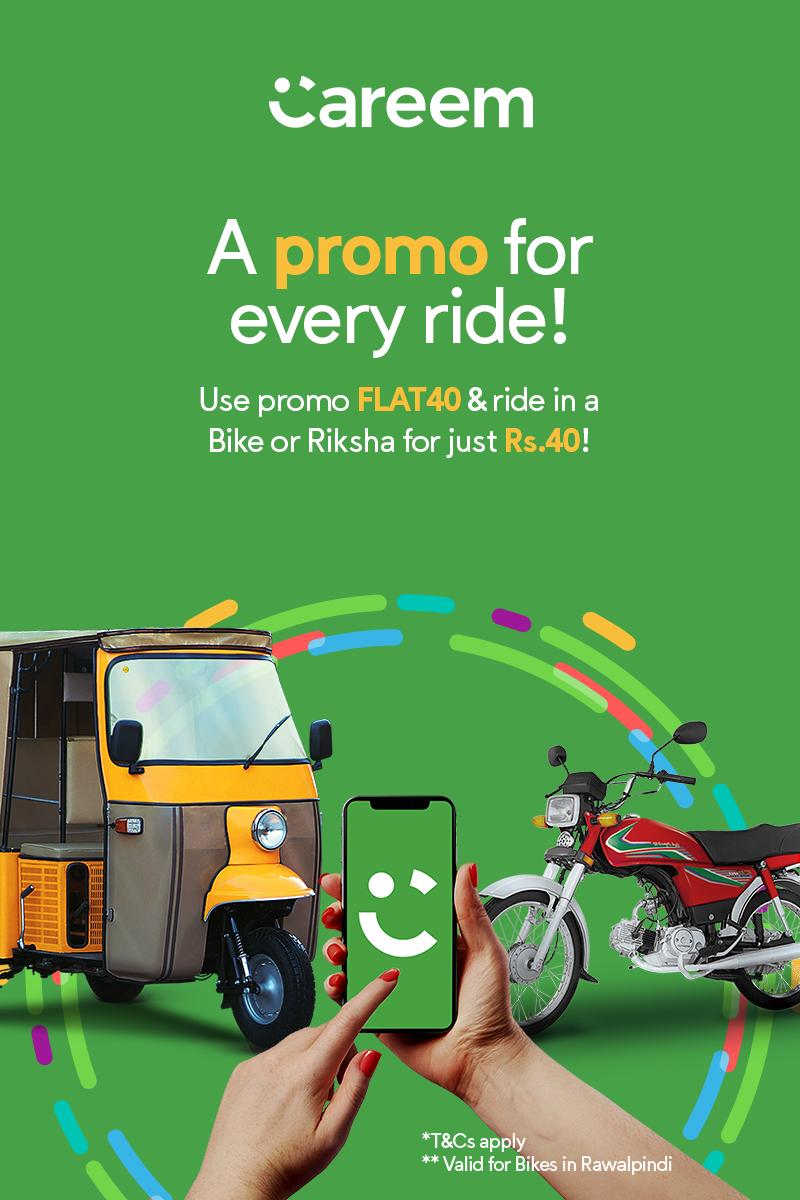 careem promo for bike and riksha