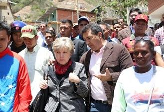 Comisión Económica para América Latina y el Caribe (Cepal), Alicia Bárcena, realizaron este jueves un recorrido en la Base de Misiones Sinaí, La vega