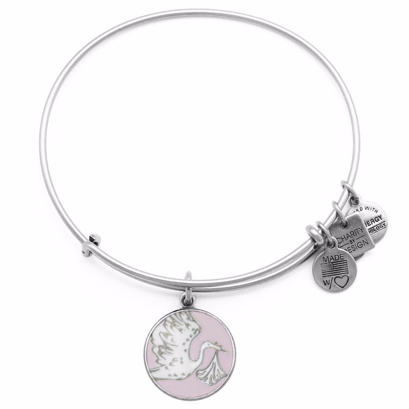 Pink Special Delivery Charm Bangle
