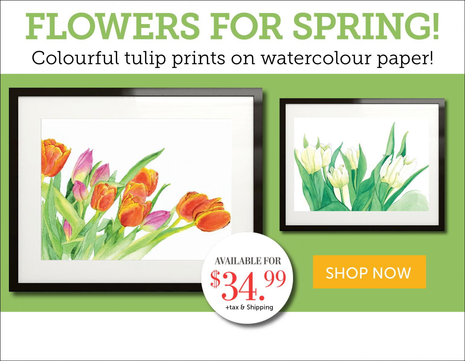 Tulip flower prints for spring!