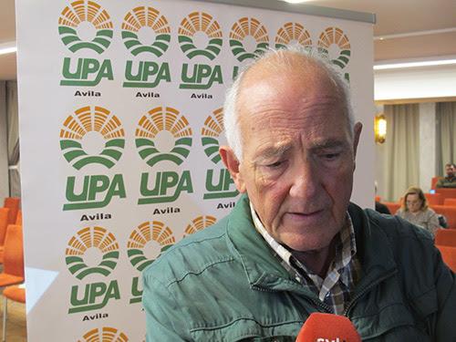 Jesús Garzón, en la jornada nacional de trashumancia que UPA organiza cada año.