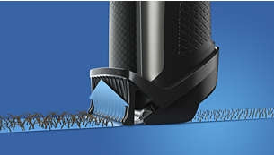 Guides Low-lying Hairs Towards The Blades For An Even Trim