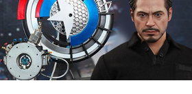 1/6 SCALE MOVIE MASTERPIECE TONY STARK WITH ARC REACTOR CREATION ACCESSORIES