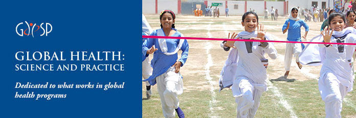 GHSP. GLOBAL HEALTH: SCIENCE AND PRACTICE. Dedicated to what works in global health programs. Photo: The Right To Play intervention in Pakistan encouraged girls' engagement in sports by holding tournaments and community events. ©Right to Play Pakistan