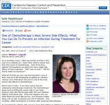 CDC's Safe Healthcare Blog