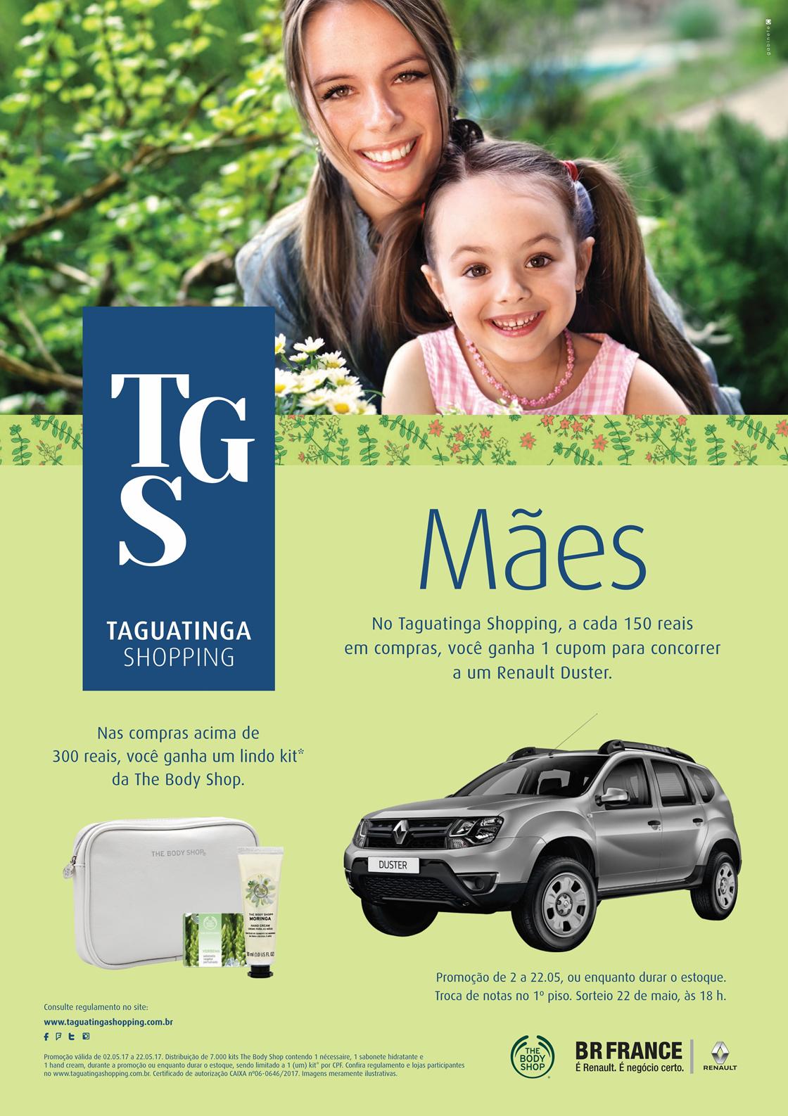 Taguatinga Shopping celebra Dia das Mães com cheirinhos especiais e sorteio de um Renault Duster