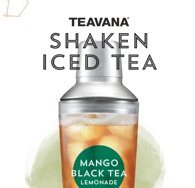 """Teavana® Shaken Iced Tea. Mango Black Tea Lemonade. We take premium tea, add ice, then shake it by hand to unlock the vibrant flavors. Say """"hello"""" to your summer afternoon pick–me–up. See our cold side."""