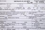 President Obama's long-form birth certificate.