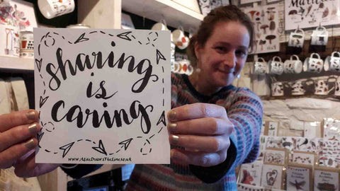 Sharing is caring for small businesses by Alice Draws The Line