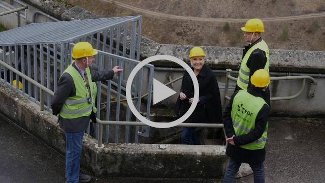 Marine Le Pen en visite au barrage de Vouglans (17/02/2017)