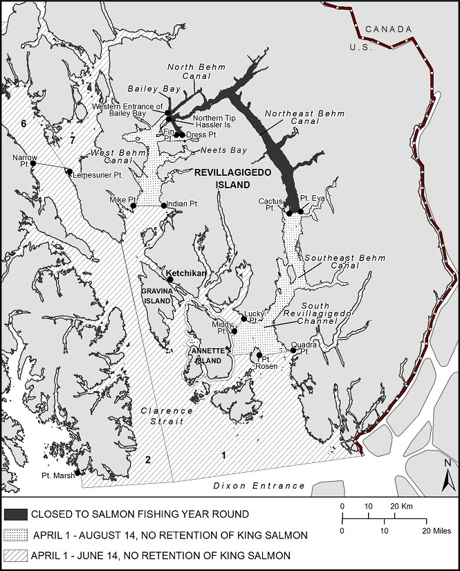 SPORT FISHING FOR KING SALMON RESTRICTED IN THE KETCHIKAN AREA